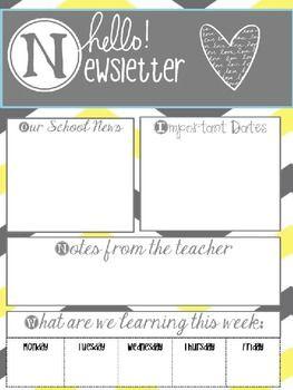 hello newsletters editable principal principles school