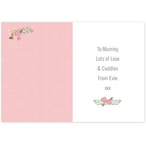 Personalised Floral Bouquet Mother's Day Card