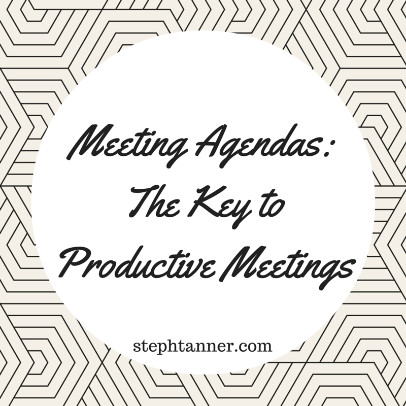 nonprofit meeting agenda