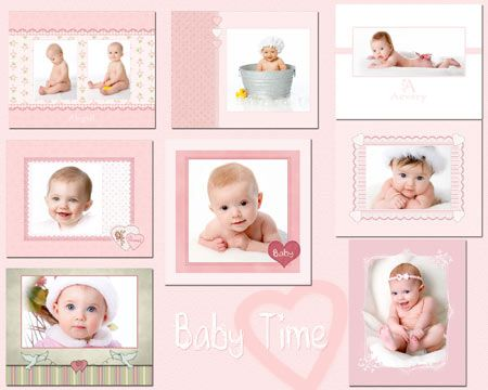 Baby Time Digital Photo Templates Set 2 41 Psd Digital Image Templates Designed For Baby And Fa Baby Photo Collages Photo Template Photo Collage Template