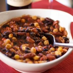 Roasted Fennel and 3 Bean Chili by CarriesExpKtchn