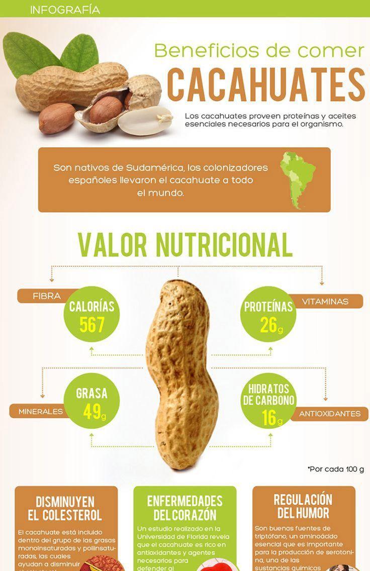 Propiedades del cacahuate cocido
