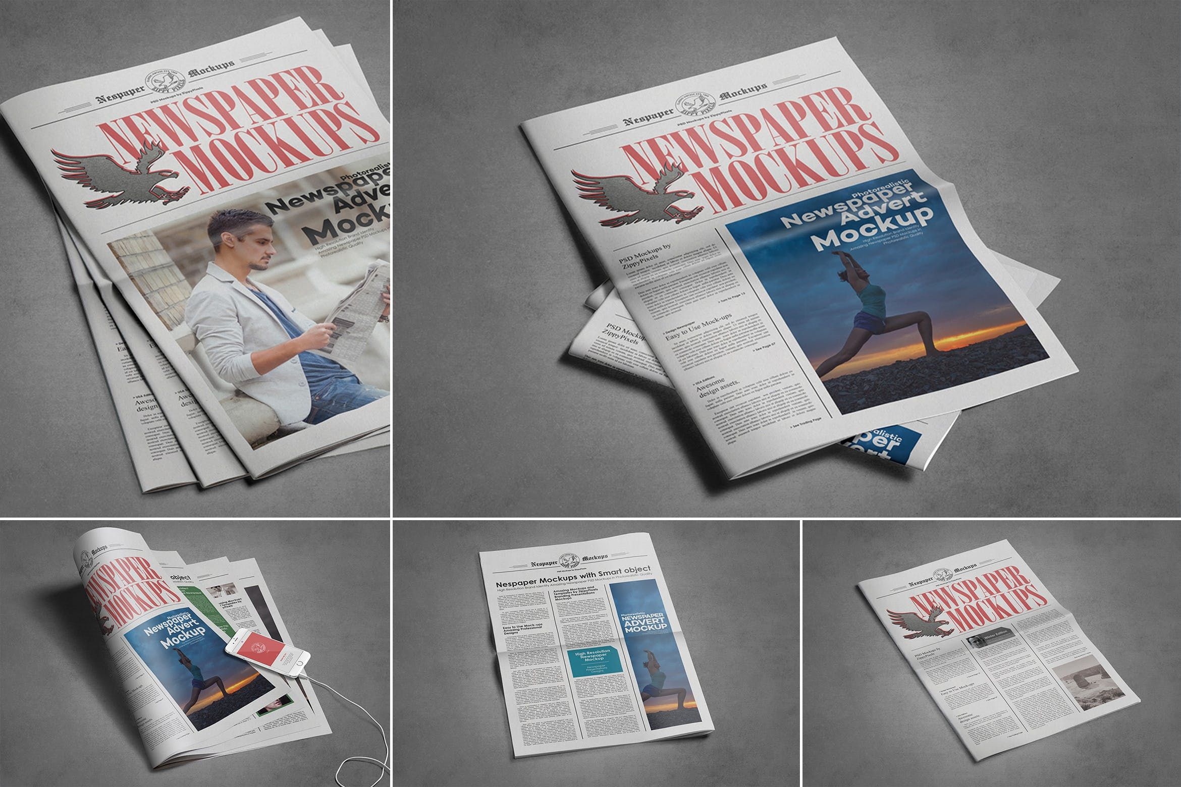 This Is A Psd Newspaper Mockup To Showcase Your Editorial Designs It Includes The Front And Back Newspaper Cover To Let In 2020 Free Mockup Template Design Mockup