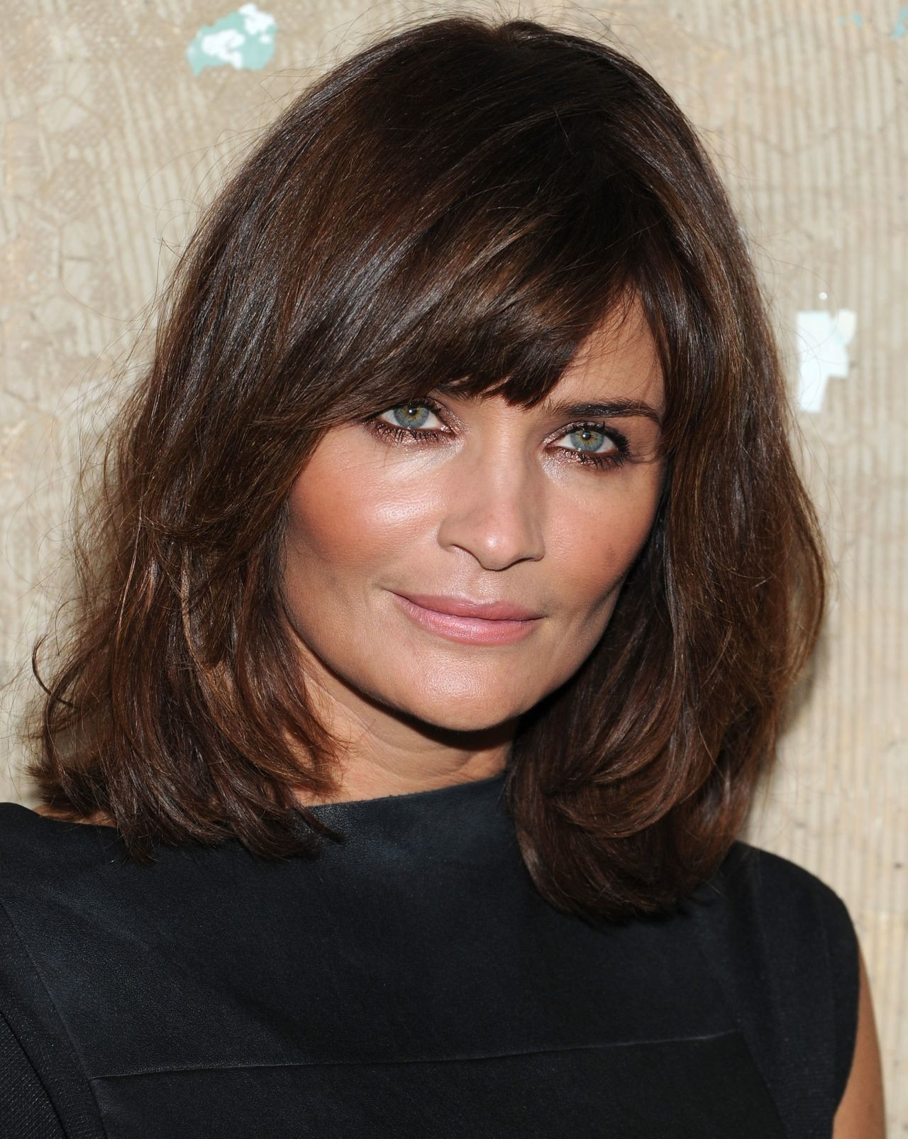 Medium Length Layered Hairstyles With Bangs For Women Over 50 Simple