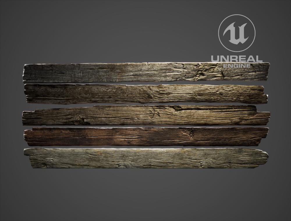 Fence Wood Planks 3d Asset Cgtrader Wood Wood Planks Wooden Planks