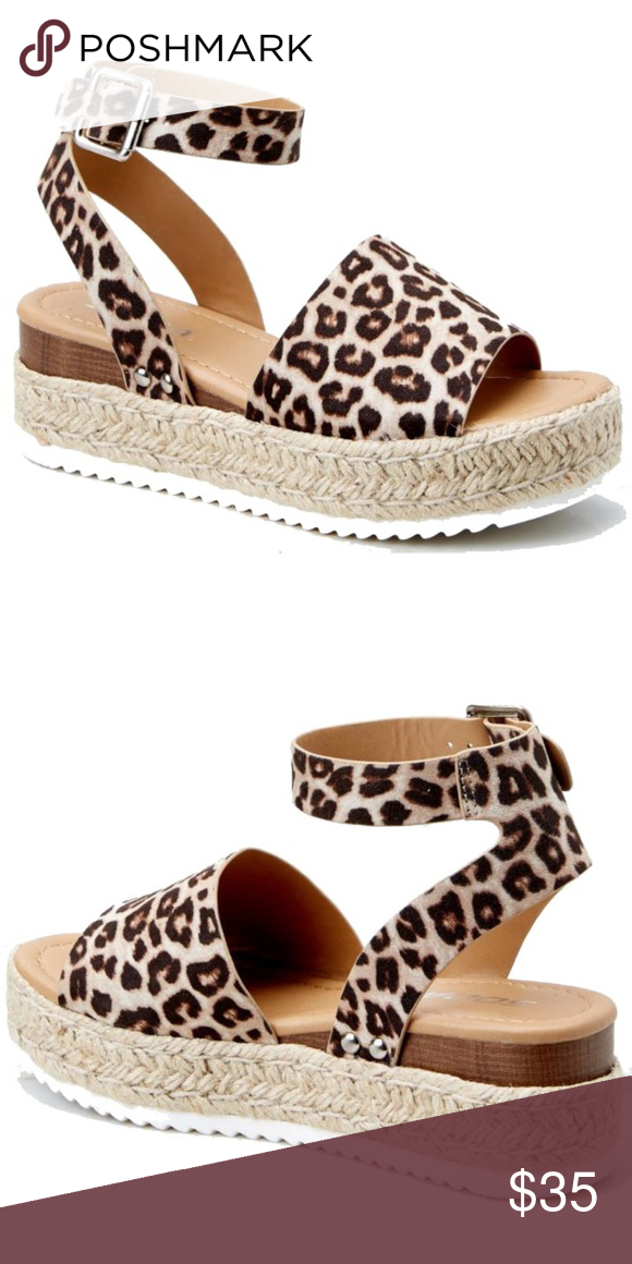 4f3144701 New Topic Leopard Platform Espadrille Sandals Update your shoe collection  with these adorable comfy flatform sandals New in box Man made material  Open toe ...