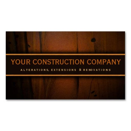 Construction builder contractor wood business card make your own construction builder contractor wood business card make your own business card with this great design reheart Choice Image