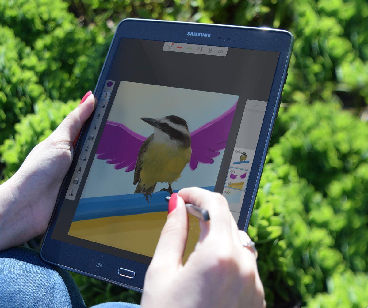Dejá que el arte fluya con la Note 4 de Samsung. ¡Encontrala en Frávega! #Tecnología #VidaTechie #Smartwatch