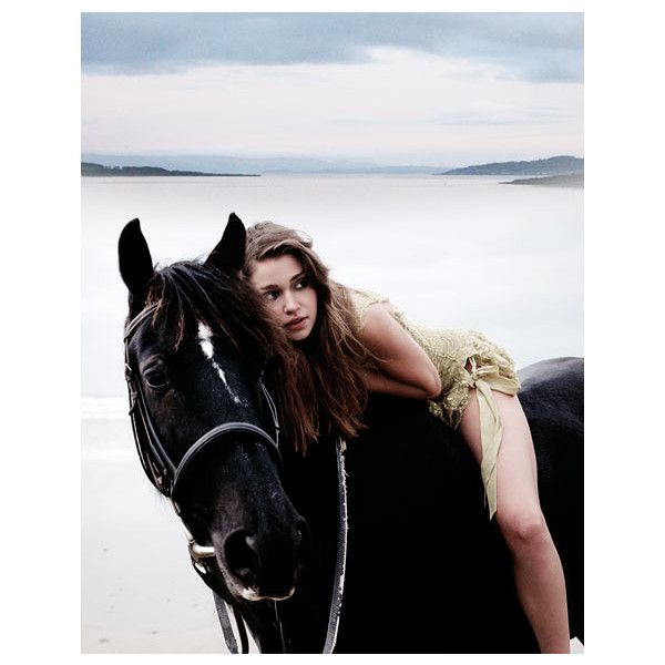 ❤ liked on Polyvore featuring models, horses, people, animals and pictures