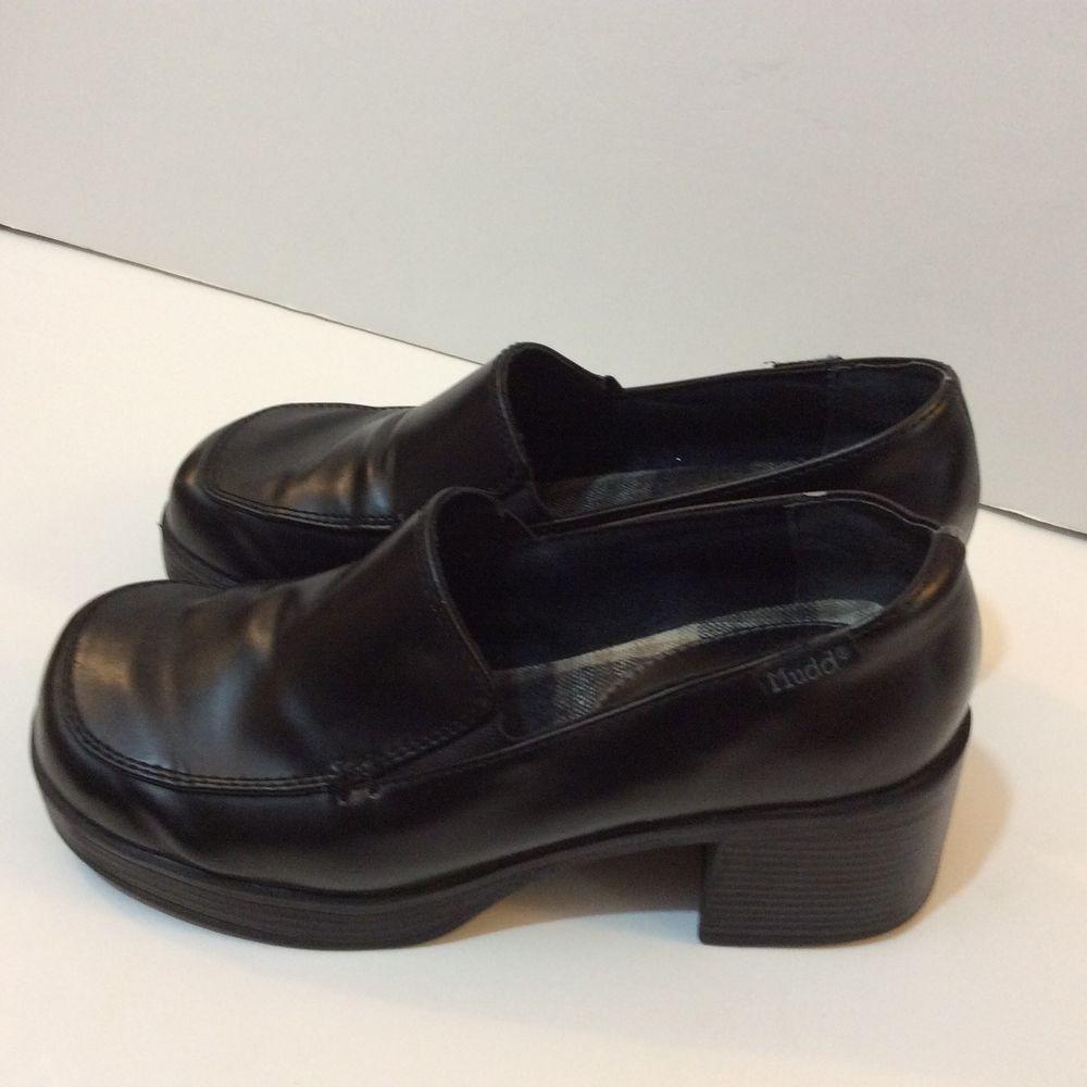 e582b505173 Womens 90s Vintage Mudd Platform Chunky Heel Shoes Club Grunge Rave Size 6   Mudd  PlatformsWedges