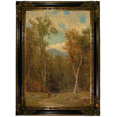 Historic Art Gallery 'Landscape 1886' by Worthington Whittredge Framed Painting Print