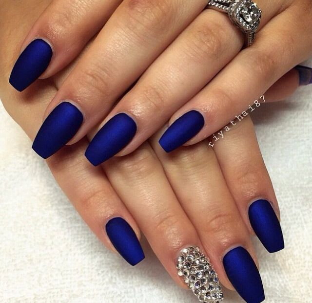 Mat blue | nails | Pinterest | Prom nails, Sweet 16 nails and Pretty ...