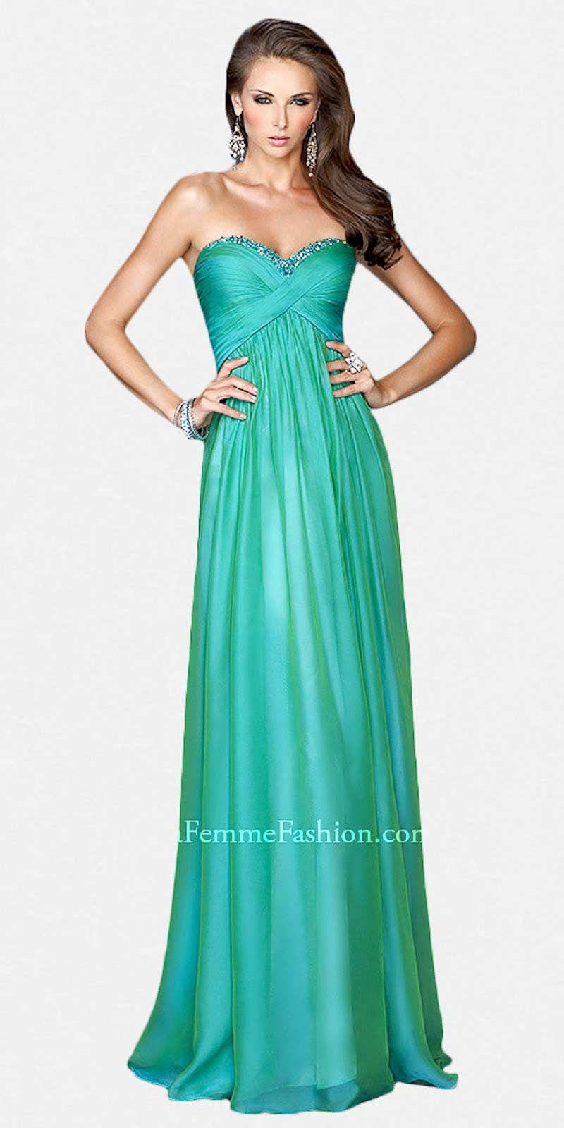Basic Strapless Sweetheart Column Prom Dresses by La Femme | fashion ...