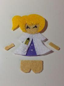 He elaborado un tutorial de las muñecas de fieltro dedicadas a las profesiones, espero que os resulten fáciles de realizar.     Empezamos: ...