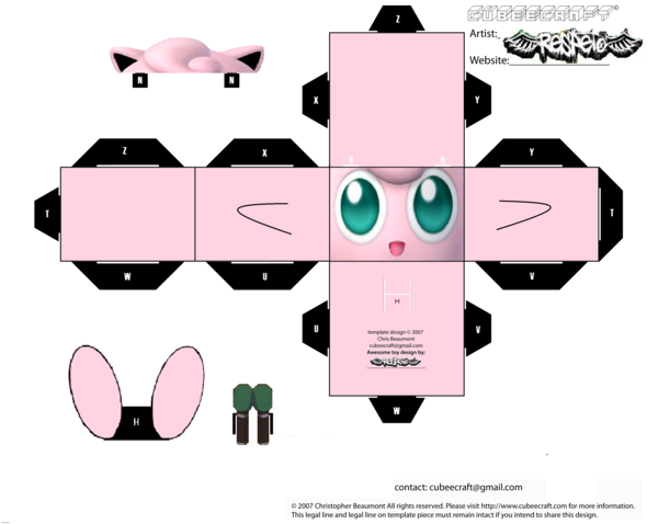 Jigglypuff Cubee Template By Respeto6 Funny Pinterest Template