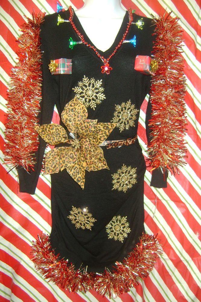 Sexy ugly christmas sweater dress