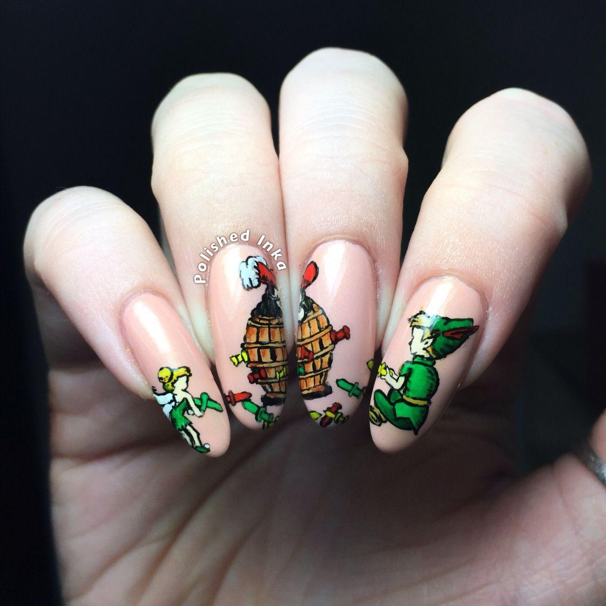 Polished Inka - Disney Peter Pan Pop Up Pirate Nail Art | Cartoon ...