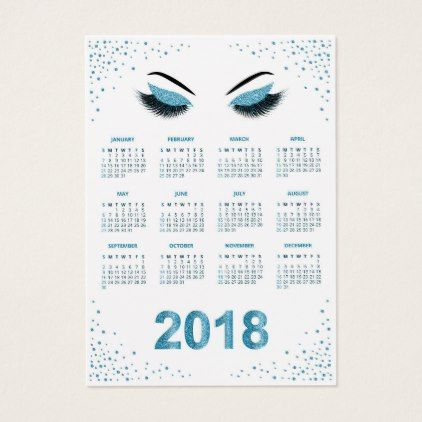 2018 Makeup artist calendar Business Card