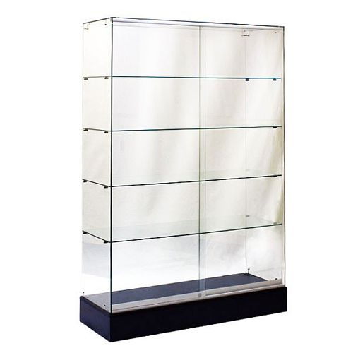 Glass Display Wall Case 48 Frameless Glass Showcase Glass Shelves Ikea Slat Wall Display