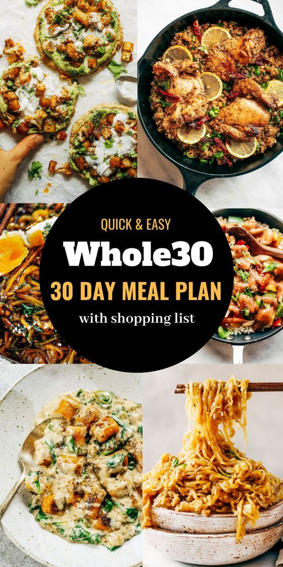 Easy Whole 30 Meal Plan - Paleo Gluten Free Eats