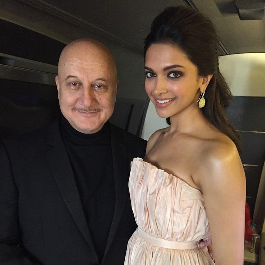 Deepika Padukone and Anupam Kher