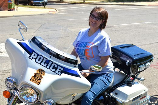 Toledo Pride Gallery 3 - @Meaghan_Mick on a police bike