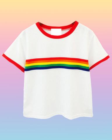 6638bca8d4f2f7 Gay Af Rainbow Crop Top - INU INU