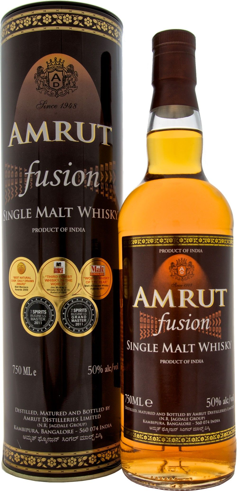 Amrut Fusion Single Malt Whisky One Of The Worlds Best From