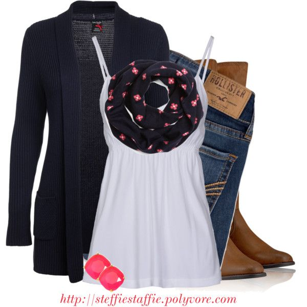 """Woman's fashion """"Navy & Pink Coral"""" by steffiestaffie on Polyvore"""