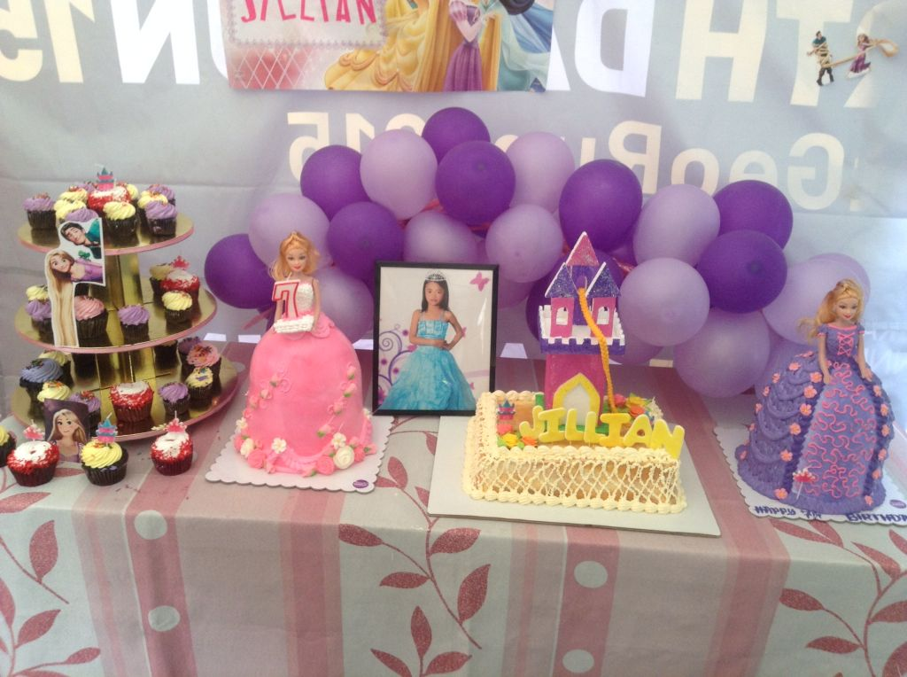 Rapunzel themed cakes