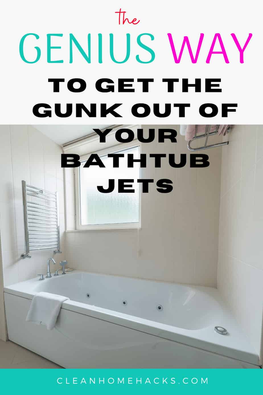 The Genius Way To Get The Gunk Out Of Your Bathtub Jets Clean Jetted Tub Clean Bathtub Tub Cleaner