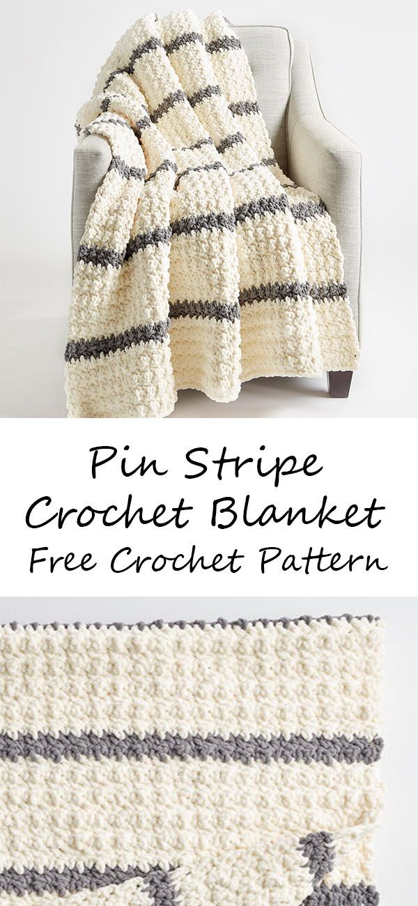 Photo of Pin Stripe Crochet Blanket