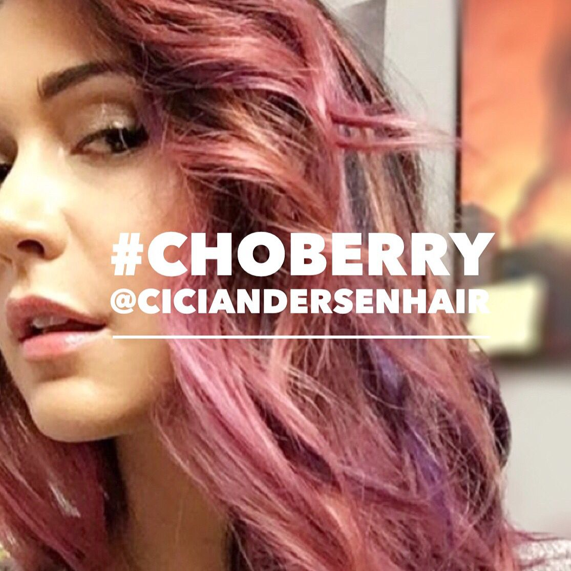 "Jessica Chobot rocks her new ""choberry"" raspberry and"