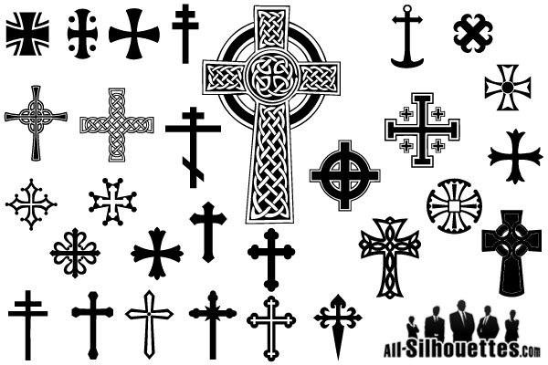 Cross Symbol Silhouette Vector Images Freepatternsarea Cross Symbol Silhouette Vector Christian Cross Images