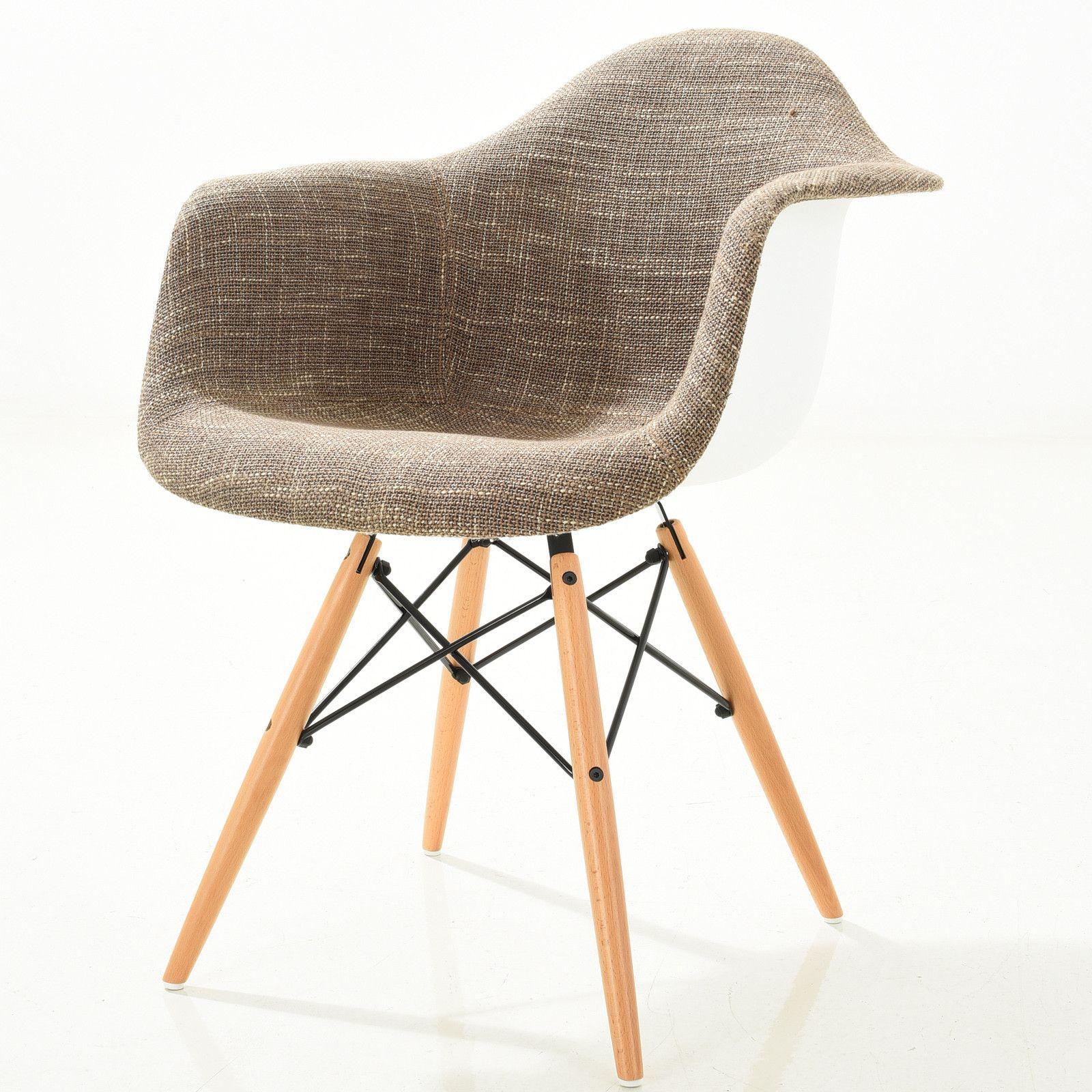Emfurn DAW Style Natural Padded Armchair