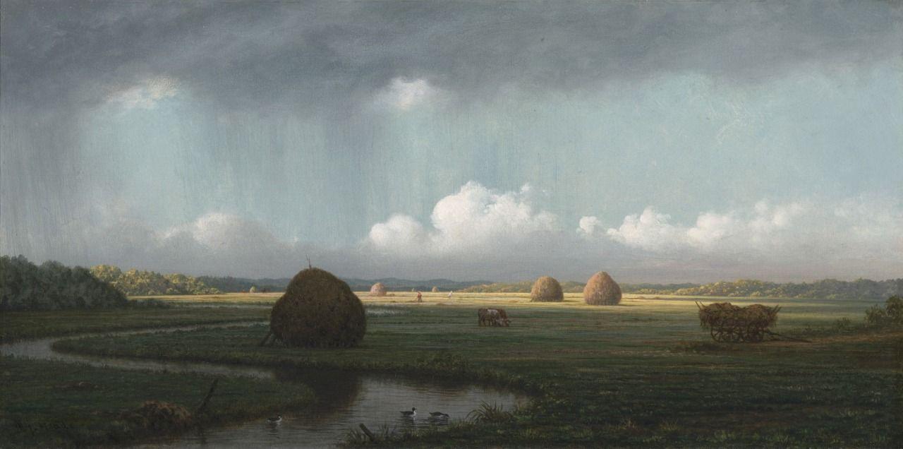 Sudden Showers, Newbury Marshes -Martin Johnson Heade