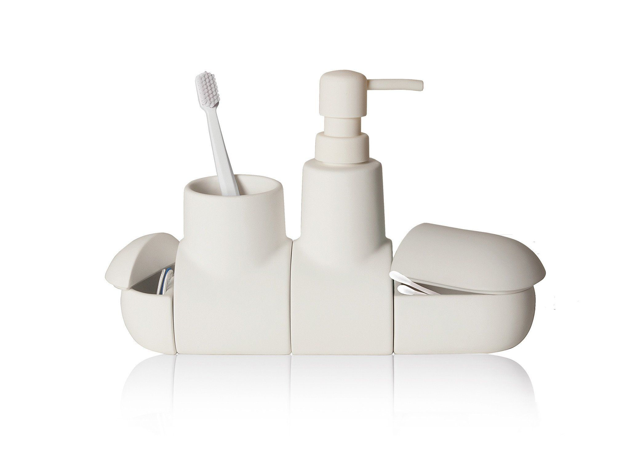 Submarino Porcelain Bathroom Accessory Set in White design by ...
