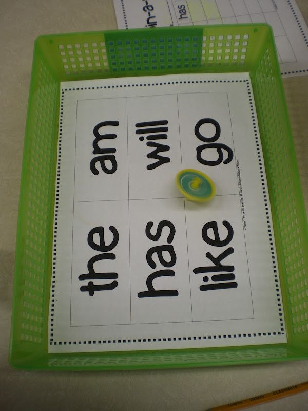 spin-a-sight-word station activity  Mrs. Bremer's Kindergarten: Spin-A-Word Freebie & More Literacy Work Stations