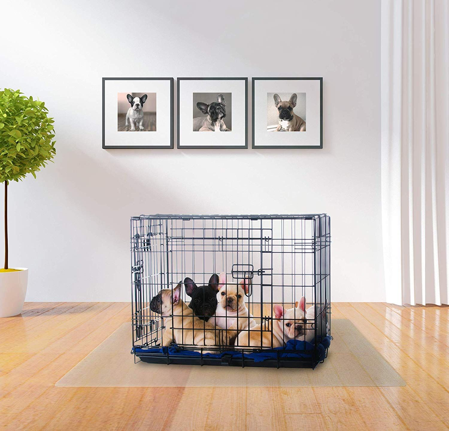 PTex, Dog Crate Floor Protection Mat, Hard Floors and Low