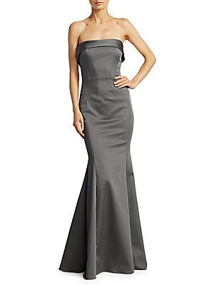 Zac Posen Stretch Faille Mermaid Gown