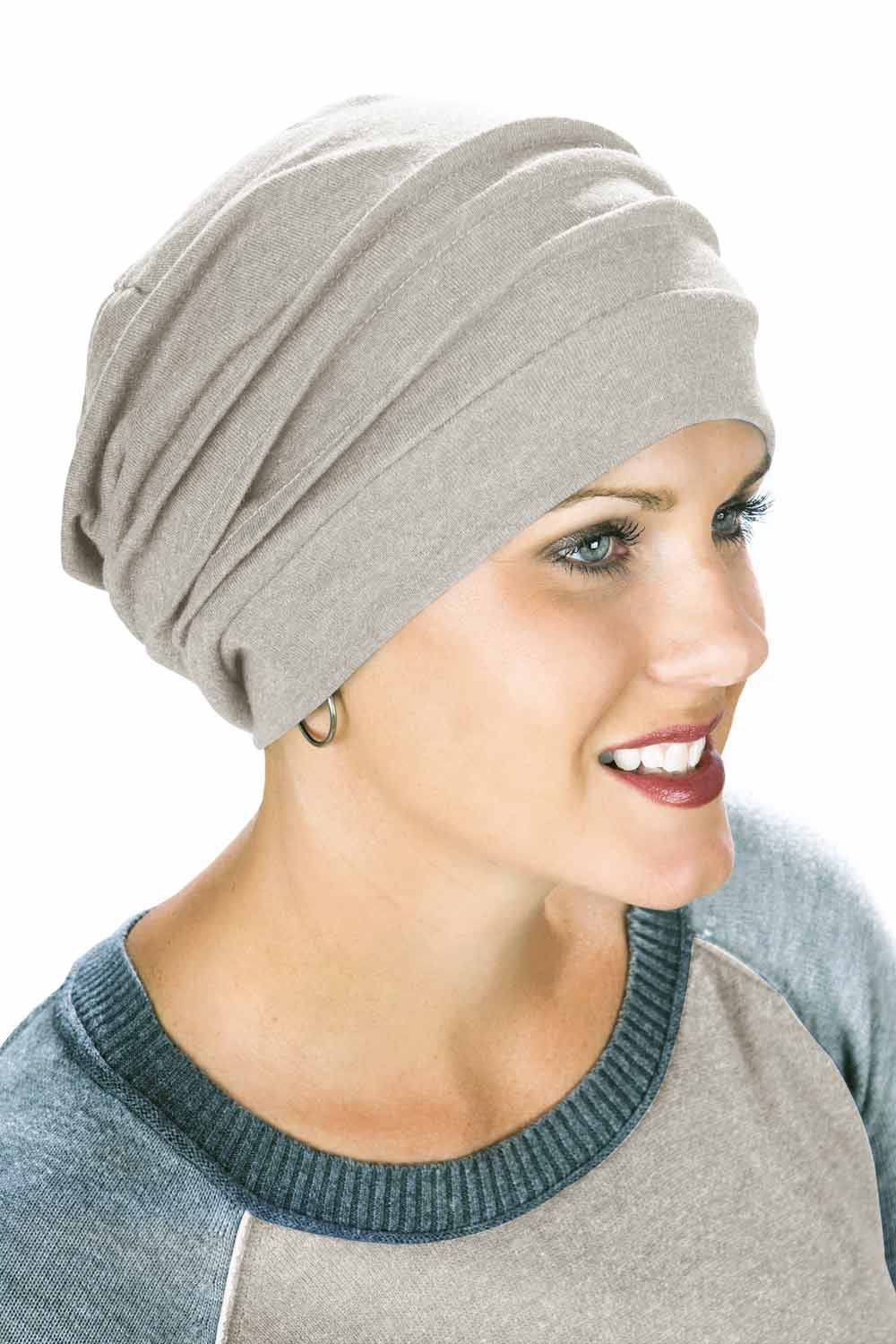 head coverings for cancer patients - chemo snood in white 8d62efd02a5