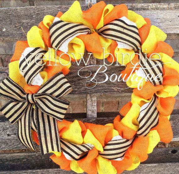Hgtv Front Door Fall Decorations: Burlap Wreath Halloween Wreath Fall Wreath Autumn Wreath