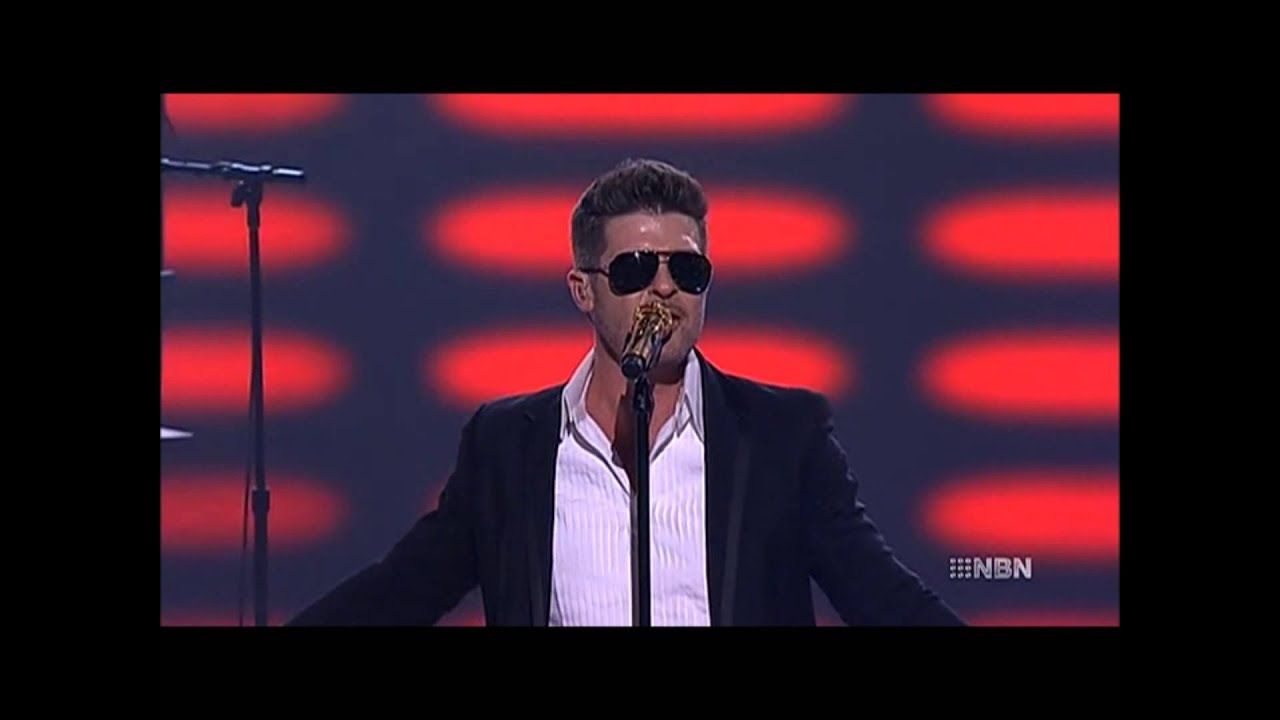 Robin Thicke Blurred Lines Live On The Voice Au Robin Thicke Blurred Lines Blur
