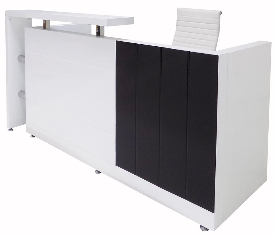 79 W Black And White High Gloss Reception Desk White High Gloss Reception Desk High Gloss Reception Desk Reception Desk