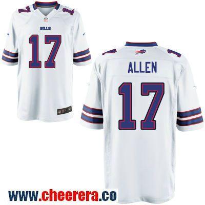 Men s Buffalo Bills  17 Josh Allen White Road Stitched NFL Nike Game Jersey c78fff419