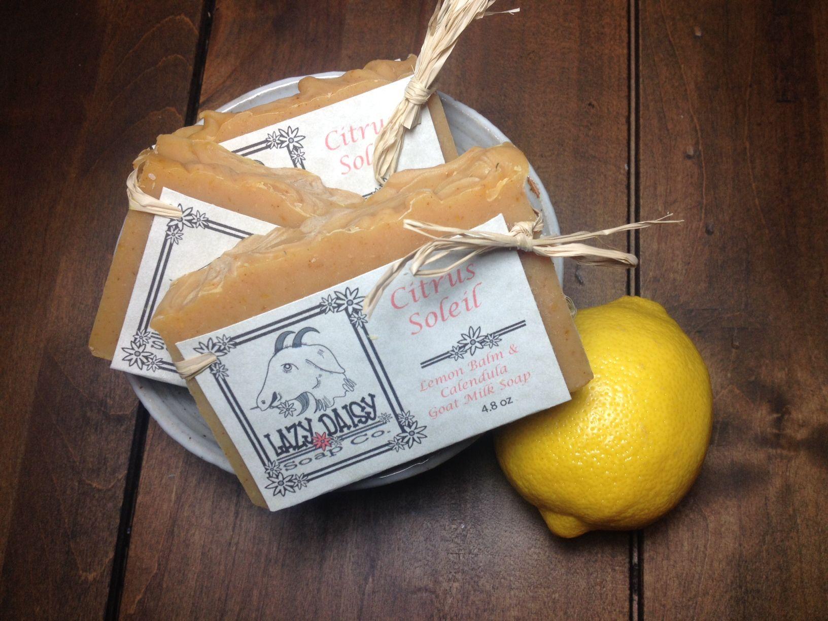 Great way to wake up  Lemongrass and Turmeric Goat Milk Soap Lazy Daisy Soap Co.