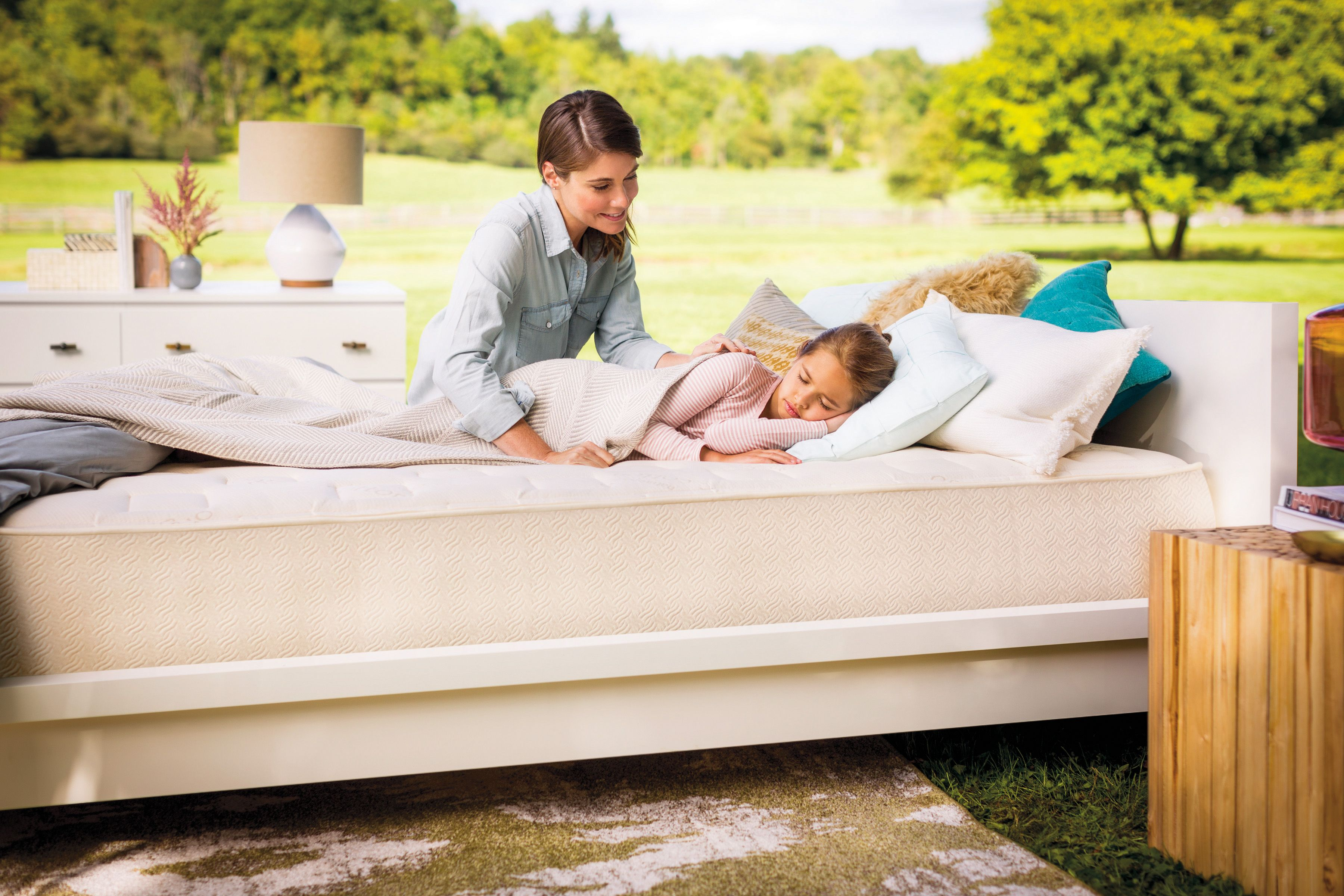 @naturepedic mattresses are not only organic, but also waterproof on one side and quilted on the other, so they can grow with your child! #PNpartner