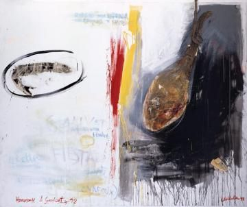 Hunger 98, Acrylic on canvas, 1998, 77 x 64 inches Javier de Villota