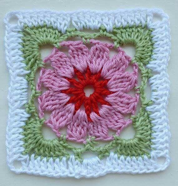 Pin de Dolores Rodriguez en Crochet Grany ,círculos y rombos a ...