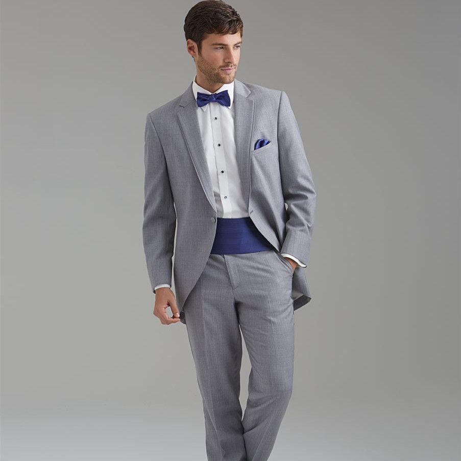 Click to Buy << wedding tuxedo light grey suit men bridegroom ...